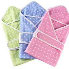 Muslin Cotton Gauze Baby Splash Wrap Bath Hooded Towel Infant Swaddle Dots