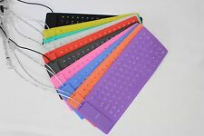 Waterproof Flexible Roll up Portable 85 keys Silicone Folding Keyboard USB Cable