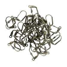50pcs Wholesale Shell Open Leverback Earring Ear Wire Coil Jewelry Finding DIY