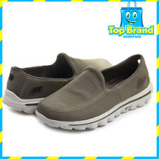 MENS SHOES CASUAL SLIP ON SKECHERS GO WALK 2 - TAUPE - 53591 - size 7 US