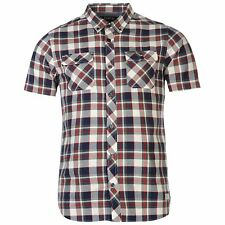 Firetrap Short Sleeve Hrbne Check Shirt Mens