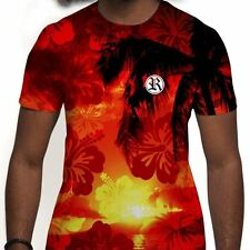 Rich In Paradise Hawaiian Palm Tree Hawaii Ibiza Miami Sunny Beach Mens T Shirt