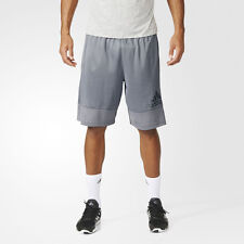 Adidas Prime Mens Grey Climalite Training Work Out Shorts Pants Bottoms