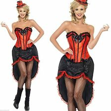 Burlesque Moulin Rouge Can Can Show Girl Dancer Fancy Dress Costume Size 16-18