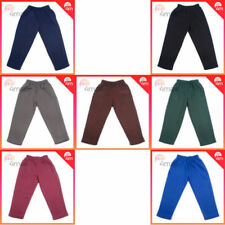2 x Boys Girls Kids Fleece Fleecy School Uniforms Long Track Pants Trousers Sz