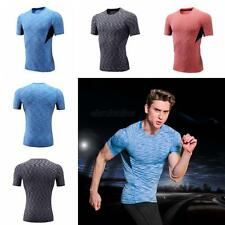 Mens Compression Skin Under Base Layer Tight Top Short Sleeve Jersey T-Shirts