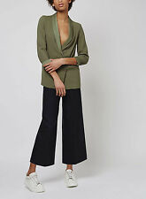 Womens Ladies TOPSHOP Soft Tailored Khaki Blazer with Relaxed Fit RRP £55