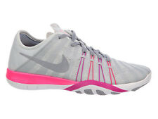 NEW WOMENS NIKE FREE TR 6 CROSS TRAINING SHOES TRAINERS PURE PLATINUM / PINK BLA