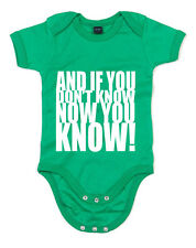 And If you Don't Know now you Know, Notorious B.I.G inspired Kid's Babygrow