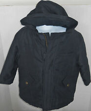 Gymboree Boy's Snow Chillin' Navy Hooded Puffer Jacket Size XS(3-4)