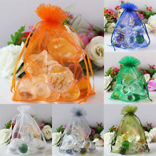 100X Premium Organza Gift Bags Jewellery Pouches Xmas Wedding Party Candy Favour