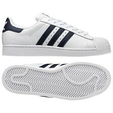 Adidas Originals Superstar II Trainers - White/Navy - G17070 - Size UK 7-12