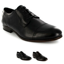 Mens H By Hudson Sheldon Lace Up Formal Smart Shiny Leather Derby Shoes UK 7-12