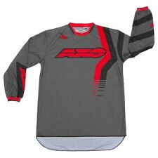 Axo NEW Mx Gear Trans-Am Grey Red Adult Dirt Bike BMX MTB Moto Motocross Jersey