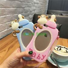 for iphone 6 6S 6 Plus Cute Baby Bottle Monkey Silicone Back Case Cover Strap