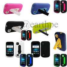 ZTE Avail 2 Z992 (AT&T) Dual Layer Armor Hybrid Stand Cover Case + Stylus Pen