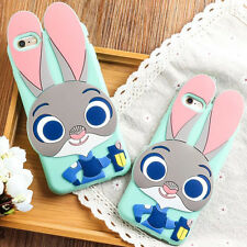 For iPhone 5/5S 6/6S 6 Plus Cute Cartoon Judy Rabbit Soft Silicone Case Cover