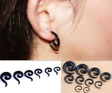 Expander Ear Snail Spiral Tunnel Stretcher Stretching Taper Plug Acrylic Flesh