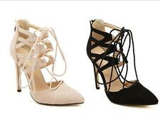 Women's Strappy High Heels Hollow Out Lace Up Stiletto Sandals Pumps Shoes Sz