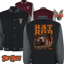Hotrod 58 Rat Rod Forged Vintage Rockabilly Retro American Car Varsity Jacket 47