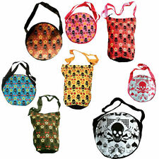 d'Rockabilly Punk Rock Baby CHERRY SKULL FLOWER GAMBLING Shopper Bag Pockets WoW