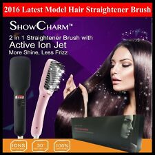 Electric Thermal Ceramic Hair Brush Ionic Hairbrush Paddle Replace Flat iron AU