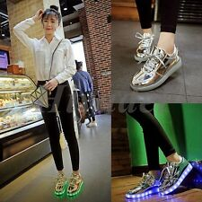 7 Colors Unisex LED charging Lace up Luminous Shoes Sneaker Couple Casual SHIEEE