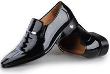 Mens Business Shoes REAL Leather Pointed Toe Wedding Dress Formal slip on Shoes