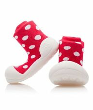 ATTIPAS BABY TODDLER BOYS AND GIRLS FIRST SHOES SLIPPER POLKA DOT PINK BLUE RED