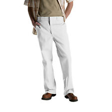 Men Dickies Flat Front Classic Fit Work Pants 874 White