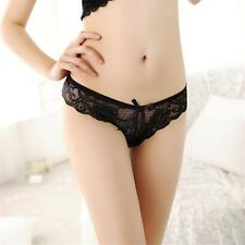 Women Sexy Lace Floral Underwear G-String ThongsT-Pant Fashion Intimate Briefs ~