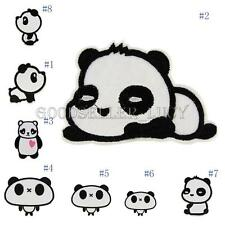 Small Panda Cartoon Embroidered Badge Applique Iron Sew On Patch DIY Patches