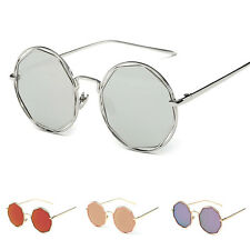 Women's Retro Round Metal Frame Designer UV400 Sunglasses Eye Glasses Eyewear