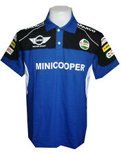 NEW MINI COOPER RAC MOTORCYCLE SPORT RACING TEAM BLUE MEN POLO T-Shirt Sz M,L,XL