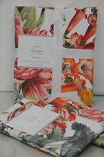 NEW POTTERY BARN FLORA King Queen DUVET COVER SHAMS 3PCS Flowers Butterfly