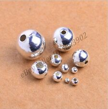Wholesale 3MM 4MM 5MM 6MM 8MM Tibetan Silver Round Spacer Beads For Jewellry