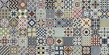 Patchwork effect Victoria Multi Pattern or Creamstone floor or wall tiles. 165mm