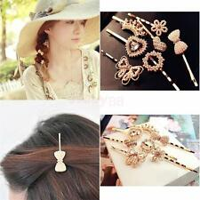 Wedding Prom Clubwear Crystal Pearl Bow Heart Hairpin Barrette Fashion Hairclip