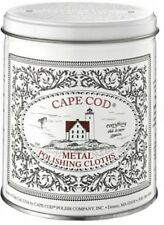 Cape Cod Economy Tin - Metal Polishing Cloths X 12 Plus Gloves and Buffing Cloth