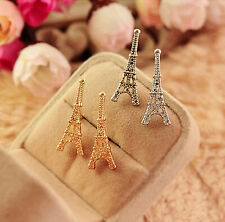 Gold/Silver New Women Fashion Paris Eiffel Tower Jewelry  Stud Earrings