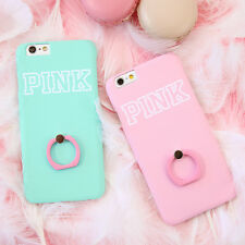 For Apple iPhone 6S 6Plus Cute Candy Colored Finger Ring Stand Hard Case Cover