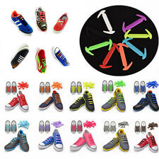 12Pc No Tie Shoelaces Silicone Shoelaces Elastic Shoe Laces Sneaker Laces Q