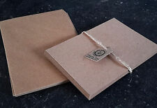 25 Blank Postcards A6 Kraft Card inc Envelopes Wedding Invitations Party Crafts