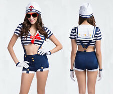 Sexy Women Navy Sailor Uniform Cosplay Costume Halloween Fancy Dress Outfit
