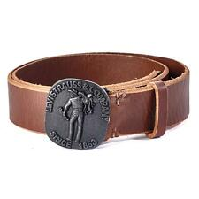 NEW LEVI'S MEN'S GENUINE LEATHER BELT STYLISH CLASSIC LOGO 11LV02UG BROWN