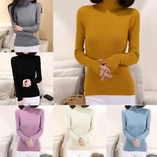 Women Turtleneck Knit Casual Long Sleeve Pullover Outwear THICK Sweater