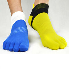Mens Cotton Toe Socks Pure Sports Five Finger Sock Breathable 1 pairs 5 Colors