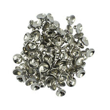 50pcs 6/8mm Blank Round Cup Cap for Gluing Ball Bead Bail Connector Pendants