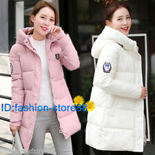 Women Winter Fashion Warm Jacket Down Cotton Coat Ladies Hooded Slim Outerwear