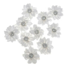 10pcs 3.5cm Satin Ribbon Flower Wedding DIY Craft Decoration Appliques